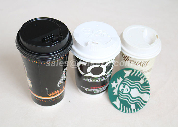 Hot / Cold 8oz Custom Printed Paper Cups Single Wall Decorative Disposable Coffee Cups