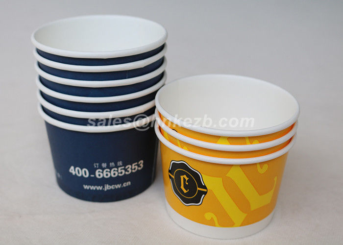Takeaway 8oz PLA Paper Cups , Disposable Hot Paper Soup Cup With Lids
