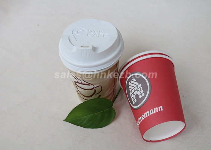 Colorful Biodegradable Tea / Coffee Vending Paper Cups Disposable Singel Wall