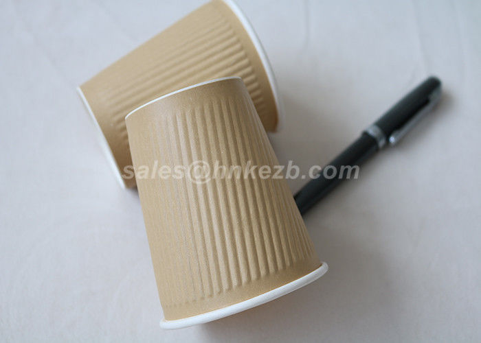 Brown Insulated 22oz Disposable Hot Drink Cups Ripple Wall For Coffee
